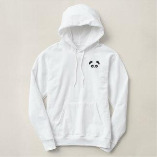 愛Panda®の女性プルオーバーのフード付きスウェットシャツ 刺繍入りパーカ