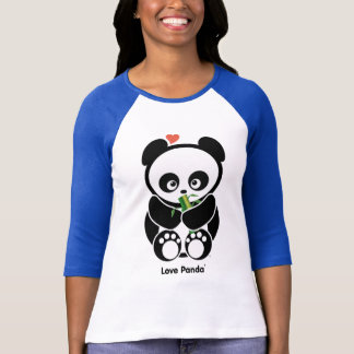 愛Panda®のRaglanの女性服装 Tシャツ