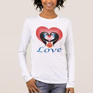愛pinguinのワイシャツのTシャツ 長袖Tシャツ