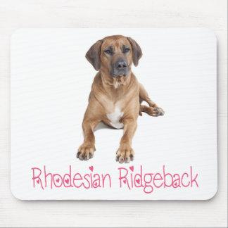 愛Rhodesian Ridgebackの小犬のマウスパッド マウスパッド