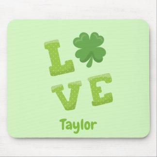 愛St patricks dayの幸運な緑 マウスパッド