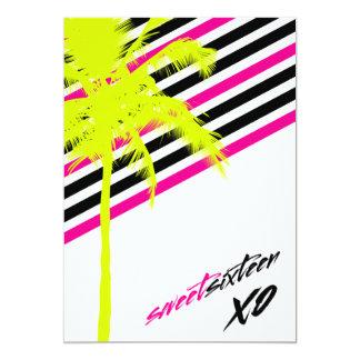 愛Sweet sixteenとBeachy 311やし 12.7 X 17.8 インビテーションカード