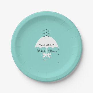 愛Tiffanyのティール(緑がかった色)の青いパーティーの紙皿を振りかけて下さい ペーパープレート