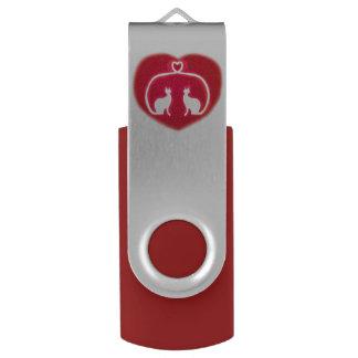 愛USBの旋回装置のフラッシュドライブの猫 USBフラッシュドライブ
