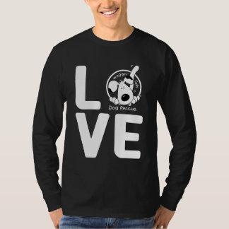 愛Wagginは犬の救助の後につきます Tシャツ