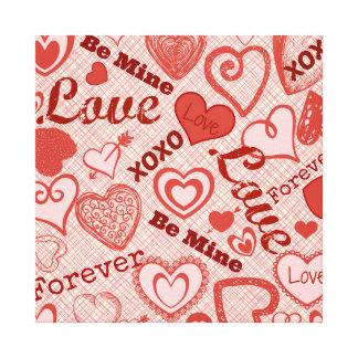 愛XOXOは永久に私の物ハートのバレンタインデーです キャンバスプリント