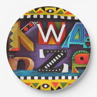 感じのKwanzaa Kwanzaaのパーティーの紙皿 ペーパープレート