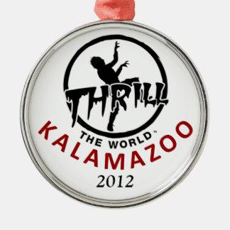 感動させて下さい世界のKalamazooのロゴのオーナメント(2012年)を メタルオーナメント