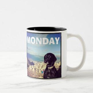 感動しない犬-月曜日のマグ ツートーンマグカップ