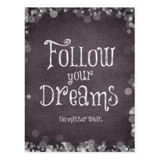 感動的あなたの夢の引用文を後を追って下さい ポストカード