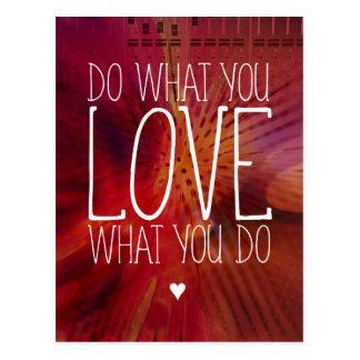 感動的することを愛するものして下さい ポストカード