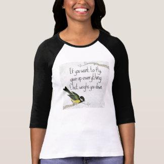 感動的でやる気を起こさせるな女性のRaglanのTシャツ Tシャツ