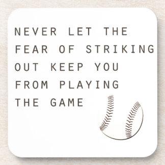 感動的でモダンな野球を打つことの恐れ コースター