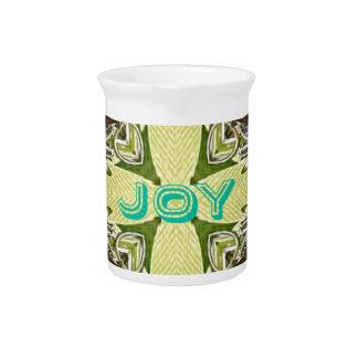感動的で抽象的な十字の中心の「喜び」の形 ピッチャー