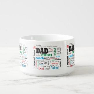 感動的で最も最高のな父のパパの単語の雲 チリボウル
