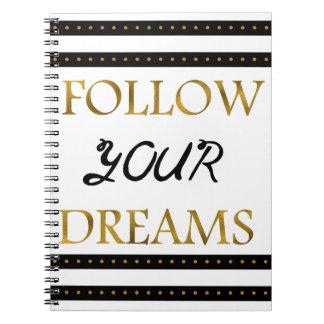 感動的なあなたの夢を後を追って下さい ノートブック