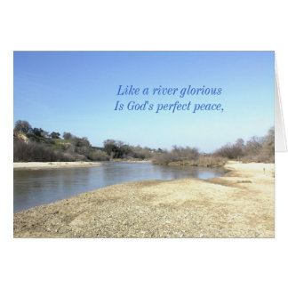 感動的なカード: 見事な川のように グリーティングカード