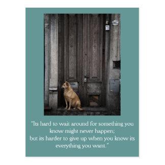感動的なカード: 1つを待っていること ポストカード