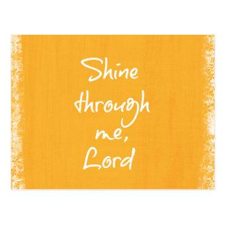 感動的なキリスト教の引用文の断言の祈りの言葉 ポストカード