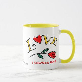 感動的なキリスト教の引用文 マグカップ