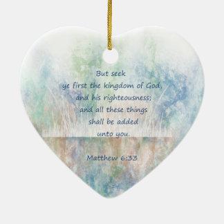 感動的なシークの神の王国の聖なる書物、経典Matthew セラミックオーナメント