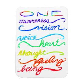 感動的なチャクラのテーマの虹の芸術の単語 マグネット