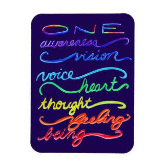 感動的なチャクラのテーマの虹の芸術の磁石 マグネット
