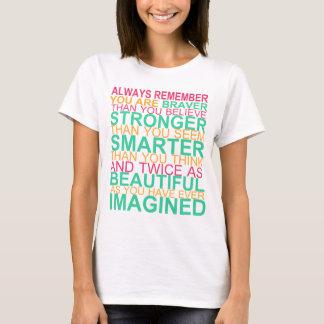 …感動的なティーを常に覚えて下さい Tシャツ