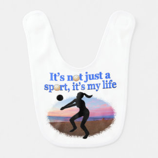 感動的なバレーボールは私の生命デザインです ベビービブ
