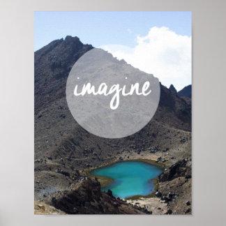 """感動的なポスターを""""想像して下さい"""" ポスター"""