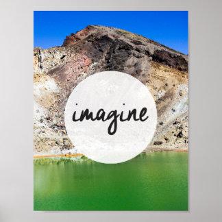"""感動的なポスター(2)を""""想像して下さい"""" ポスター"""