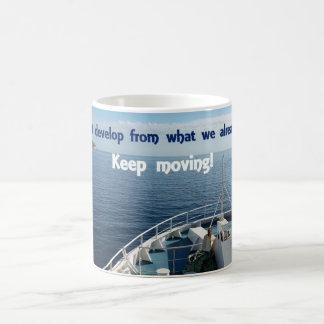 感動的なマグ-移動を保って下さい! コーヒーマグカップ