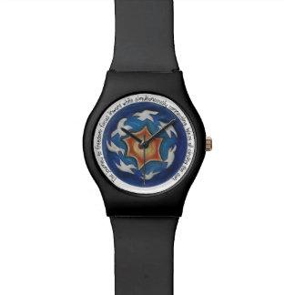 感動的なメッセージが付いている曼荼羅の腕時計 腕時計