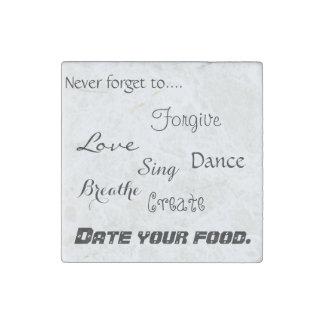 感動的なメモの今までに冷蔵庫の食糧磁石 ストーンマグネット