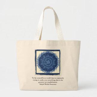 感動的なラルフ・ワルド・エマーソンの引用語句 ラージトートバッグ