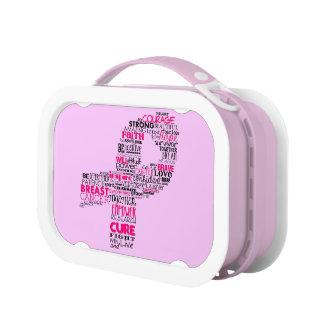 感動的な乳癌の認識度のリボン ランチボックス