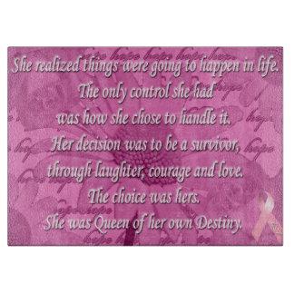 感動的な乳癌の認識度の切断の雄豚 カッティングボード