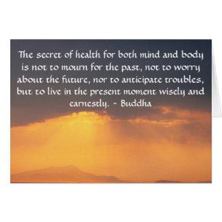 感動的な写真との美しい仏教の引用文 グリーティングカード