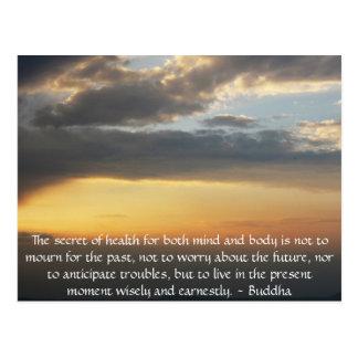 感動的な写真との美しい仏教の引用文 ポストカード