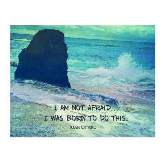 感動的な勇気の引用文のジャンヌダルクの海の海 ポストカード