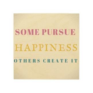 感動的な壁の装飾のプラクの印の幸福 ウッドウォールアート