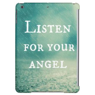 感動的な天使の引用文 iPad AIRケース