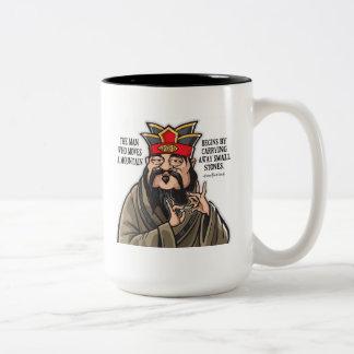 感動的な孔子の引用文のマグ ツートーンマグカップ