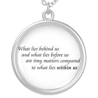 感動的な引用文のネックレスのユニークな勇気のギフト シルバープレートネックレス