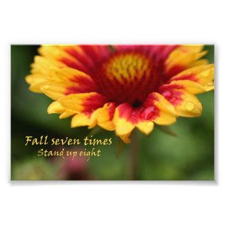 感動的な引用文の多彩な花の写真 フォトプリント