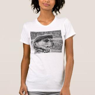 感動的な引用文の愛らしいパグのTシャツ Tシャツ