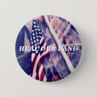 感動的な引用文の米国旗 缶バッジ