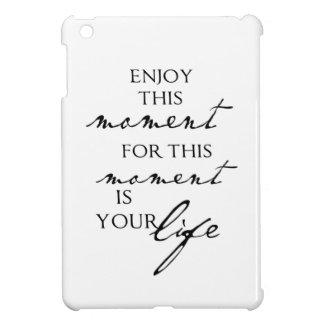 感動的な引用文はこの時-生命--を楽しみます iPad MINIカバー