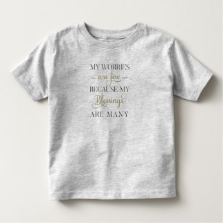 感動的な心配および恵みの引用文|のワイシャツ トドラーTシャツ