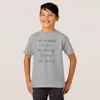 感動的な心配および恵みのTaglessのワイシャツ Tシャツ